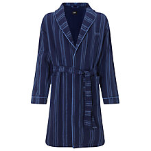 Buy BOSS Shawl Neck Stripe Robe, Navy Online at johnlewis.com