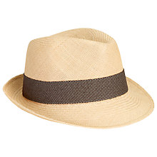 Buy Christys' Liberty Trilby Panama Hat, Natural Online at johnlewis.com