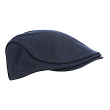 Buy Ted Baker Pherlop Cotton Herringbone Flat Cap, Navy Online at johnlewis.com