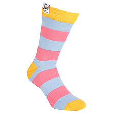 Buy Jollie Goods The Joker No.4 Striped Socks, Pink/Blue Online at johnlewis.com