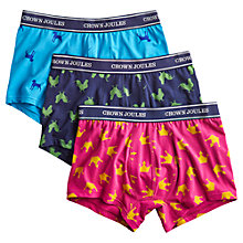 Buy Joules Top Dog Trunks, Pack of 3, Blue/Navy/Pink Online at johnlewis.com