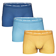 Buy Bjorn Borg Seasonal Trunks, Pack of 3, Blue/Navy/Yellow Online at johnlewis.com