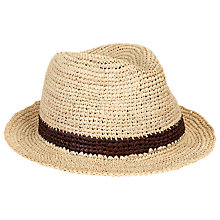 Buy Christys' Crochet Raffia Trilby, Natural Online at johnlewis.com