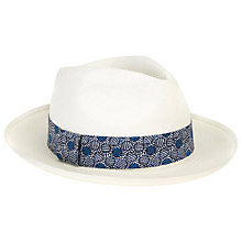 Buy Christys' Exclusive Liberty Panama Straw Hat, White/Blue Online at johnlewis.com