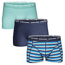 Buy Bjorn Borg Basic Stripe Trunks, Pack of 3, Multi Online at johnlewis.com