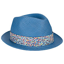 Buy Christys' Liberty Snap Brim Panama Hat, Blue Online at johnlewis.com