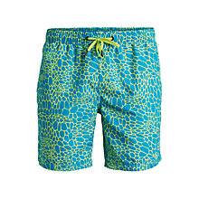 Buy Bjorn Borg Membrane Mid Length Swim Shorts, Blue/Yellow Online at johnlewis.com