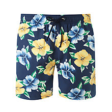 Buy Gant Vintage Flower Print Swim Shorts, Blue Floral Online at johnlewis.com