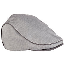Buy Ted Baker Herringbone Flat Cap, Grey Online at johnlewis.com