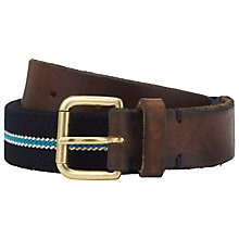 Buy Selected Homme Franco Stripe Canvas Belt, Navy/Blue Online at johnlewis.com