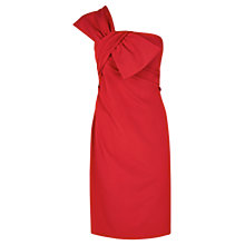 Buy Coast Ainslee Bow Dress, Red Online at johnlewis.com