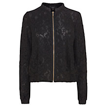 Buy Coast Casey Lace Bomber Jacket, Black Online at johnlewis.com