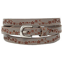 Buy White Stuff Daisy Chain Belt, Grey Salt Online at johnlewis.com