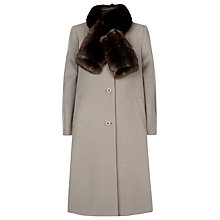 Buy Jacques Vert Midi Faux Fur Coat, Mink Online at johnlewis.com