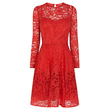 Buy Coast Petite Mallary Lace Dress, Claret Online at johnlewis.com
