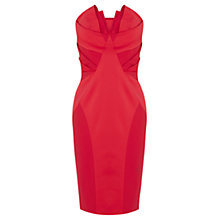 Buy Coast Roxie Bandeau Dress, Red Online at johnlewis.com