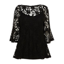 Buy Coast Isa Lace Top, Black Online at johnlewis.com