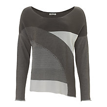 Buy Crea Concept Striped Sweater, Grey/White Online at johnlewis.com