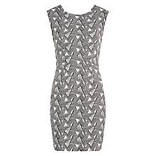 Buy Louche Graphic Print Dress, White/Black Online at johnlewis.com
