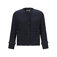 Buy Marella Floc Bouclé Jacket, Midnight Blue Online at johnlewis.com