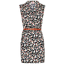 Buy Louche Rose Print Wrap Dress, Black Online at johnlewis.com