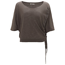 Buy Crea Concept Ruched Linen Blend Top, Grey Online at johnlewis.com