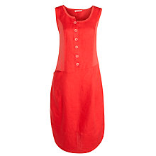 Buy Crea Concept Linen Button Dress, Red Online at johnlewis.com