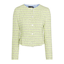 Buy Armani Jeans Peplum Stripe Jacket, Lime Online at johnlewis.com