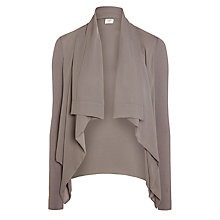 Buy Crea Concept Chiffon Waterfall Jacket, Dark Grey Online at johnlewis.com