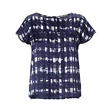 Buy Marella Check Print Top, Ink Online at johnlewis.com
