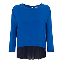 Buy Marella Bali Pleat Jumper, Blue Online at johnlewis.com