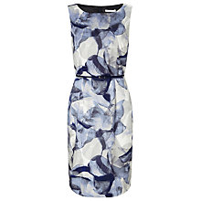 Buy BOSS Foral Shift Dress, Grey Online at johnlewis.com