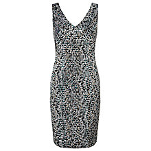 Buy BOSS Abstract Print Dress, Grey Online at johnlewis.com