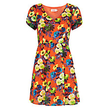 Buy Louche Floral Print Dress, Orange Online at johnlewis.com