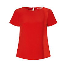 Buy BOSS Shell Top, Open Red Online at johnlewis.com