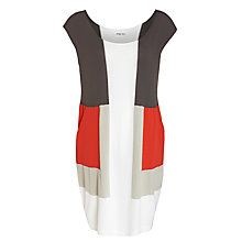 Buy Crea Concept Tunic Dress, Grey/Red/Stone Online at johnlewis.com