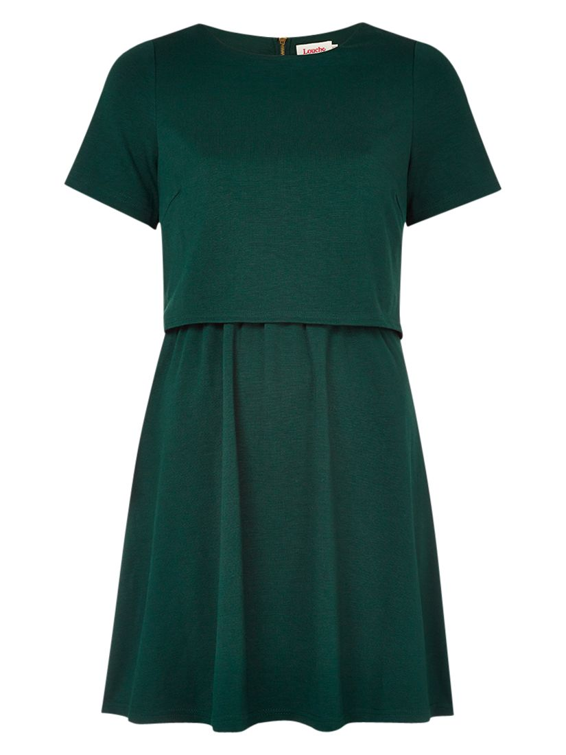 louche double layer dress forest green, louche, double, layer, dress, forest, green, 10 12 16 14 8, women, womens dresses, 1771775