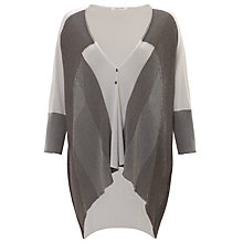 Buy Crea Concept Stripe Cardigan, Grey/White Online at johnlewis.com