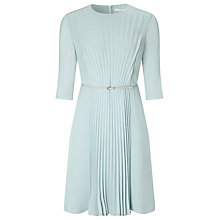 Buy BOSS Pleat Front Dress, Light Green Online at johnlewis.com