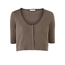Buy Crea Concept Short Knit Cardigan, Dark Grey Online at johnlewis.com