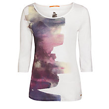 Buy BOSS Orange Talucky Jersey Top, White Online at johnlewis.com