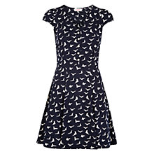 Buy Louche Bird Print Dress, Navy Online at johnlewis.com