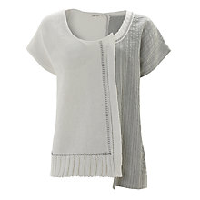 Buy Crea Concept Stripe Top, Silver Grey/White Online at johnlewis.com