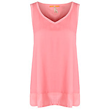 Buy BOSS Orange Silk Blouse, Medium Pink Online at johnlewis.com