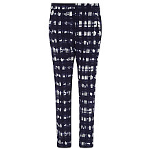 Buy Marella Camilla Check Trousers, Ink Online at johnlewis.com
