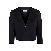 Buy BOSS Tailored Cropped Jacket, Open Blue Online at johnlewis.com