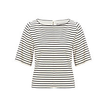 Buy Marella Stripe Top, Black Online at johnlewis.com