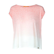 Buy BOSS Orange Jersey Top, Medium Pink Online at johnlewis.com
