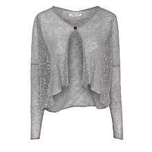 Buy Crea Concept Slub Yarn Cardigan, Silver Grey Online at johnlewis.com
