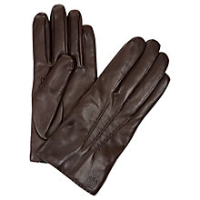 Buy Aquascutum Davenport Classic Leather Gloves, Brown Online at johnlewis.com